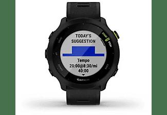 GARMIN Smartwatch Forerunner® 55 Schwarz mit Silikon-Wechselarmband 20mm
