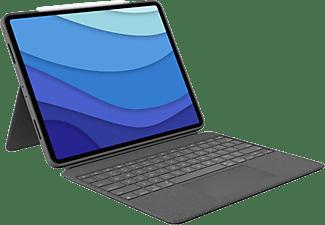 """LOGITECH Tastatur-Case Combo Touch für iPad Pro 12.9"""" (5. Gen), DE, Grau"""