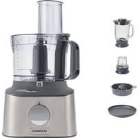 KENWOOD Multipro Compact+ FDM313SS Kompaktküchenmaschine Silber (Rührschüsselkapazität: 2,1 Liter, 800 Watt)