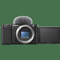 SONY Systemkamera Alpha ZV-E10 Gehäuse, 24.2 MP, APS-C, 4K30p, 11 B/s, 3 Zoll Touch LCD, Schwarz