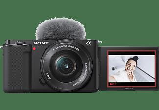 SONY Systemkamera Alpha ZV-E10 Schwarz mit Objektiv E PZ 16-50mm f3.5-5.6 OSS