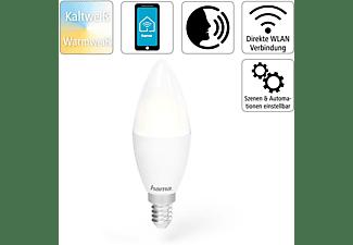 HAMA E14, 5,5 W WLAN-LED Lampe Warmweiß bis Tageslicht