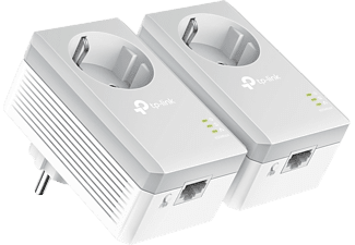 Adaptador PLC - TP-Link TL-PA4010P KIT, Pack de 2 unidades, 600 Mbps, Hasta 300 m, Ethernet 10/100Mbps, Blanco