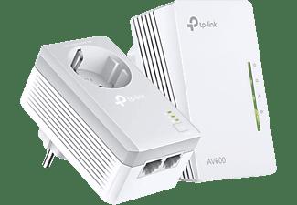 Adaptador PLC - TP-Link TL-WPA4226 KIT, 2 Adaptadores Powerline, PLC AV600, WiFi  300Mbps, 2 Puertos, Blanco