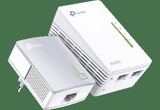 Adaptador PLC - TP-Link TL-WPA4221 KIT, Pack de 2 unidades, 300Mbps, Puertos Ethernet, 10/100Mbps, Blanco