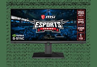 "Monitor gaming - MSI Optix MAG301RF, 29.5"", Wide Full HD, 1 ms, 200 Hz, Nvidia G-Sync, Negro"