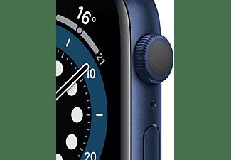 APPLE Watch Series 6 (GPS) 44mm Smartwatch Aluminium Fluorelastomer, 140 - 220 mm, Blau/Dunkelmarine