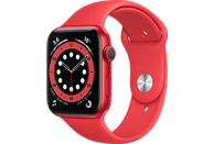 APPLE Watch Series 6 (GPS) 44mm Smartwatch Aluminium Kunststoff, 140 - 220 mm, Rot