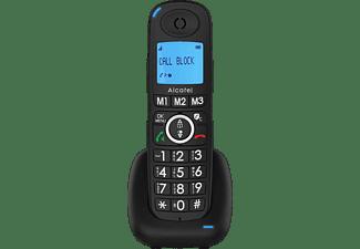 Teléfono - Alcatel XL535, 2 unidades, Función manos libres, 3 teclas memoria directa, Función Alarma, Negro