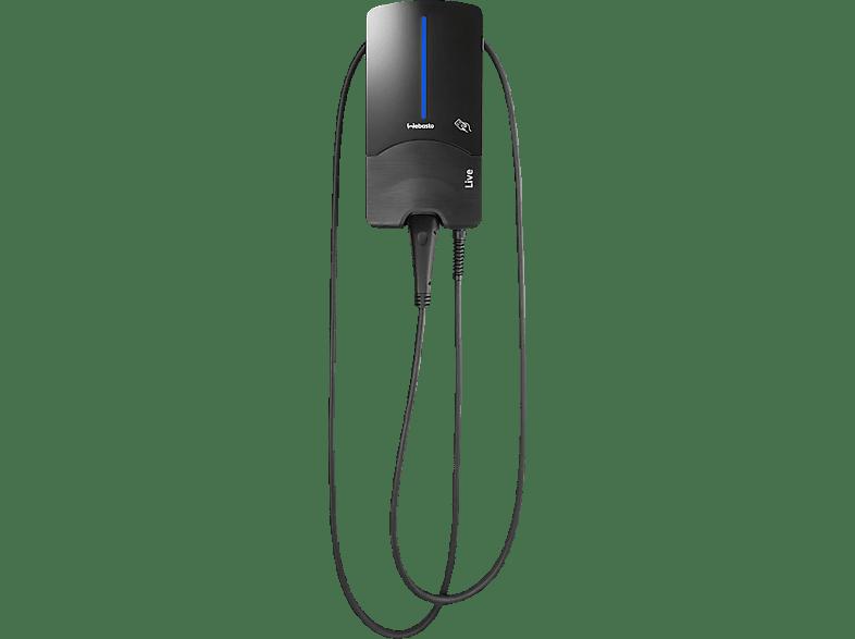 WEBASTO Live 11 kW mit Typ 2-Ladekabel 7 m Ladestation für Elektrofahrzeuge, Schwarz