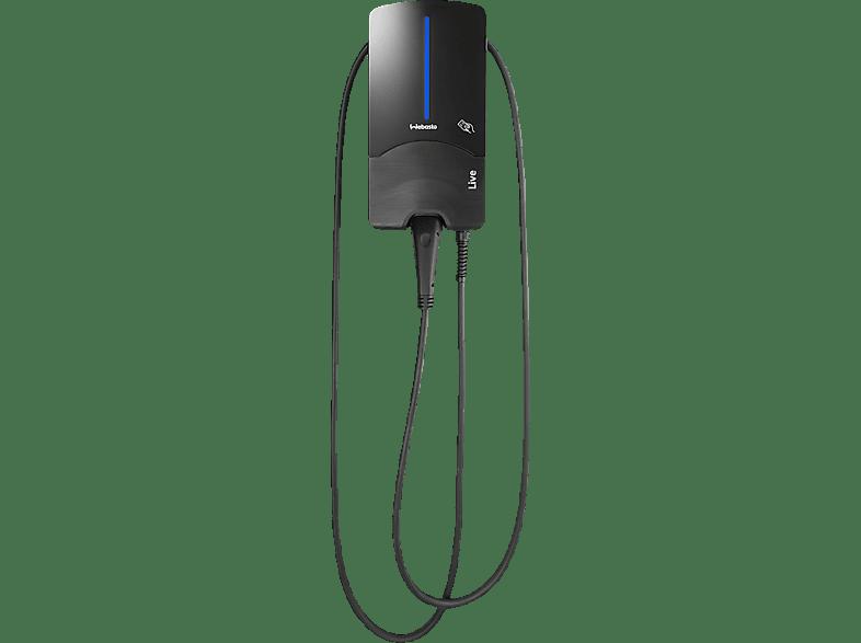 WEBASTO Live 22 kW mit Typ 2-Ladekabel 7 m Ladestation für Elektrofahrzeuge, Schwarz