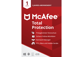 McAfee Total Protection 1 Gerät - 1 Jahr 2021 Code in a Box [PC, iOS, Mac, Android] - [Multiplattform]