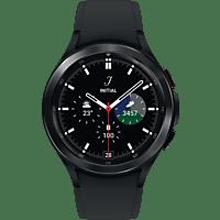 SAMSUNG Galaxy Watch4, Classic, BT, 46 mm Smartwatch Edelstahl Fluorkautschuk, M/L, Black