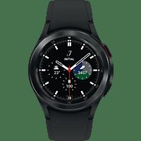 SAMSUNG Galaxy Watch4, Classic, BT, 42 mm Smartwatch Edelstahl Fluorkautschuk, S/M, Black