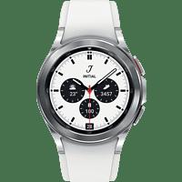 SAMSUNG Galaxy Watch4, Classic, BT, 42 mm Smartwatch Edelstahl Fluorkautschuk, S/M, Silver