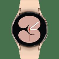 SAMSUNG Galaxy Watch4, BT, 40 mm Smartwatch Aluminium Fluorkautschuk, S/M, Pink Gold