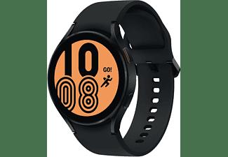 SAMSUNG Galaxy Watch4, BT, 44 mm Smartwatch Aluminium Fluorkautschuk, M/L, Black