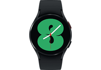 SAMSUNG Galaxy Watch4, BT, 40 mm Smartwatch Aluminium Fluorkautschuk, S/M, Black