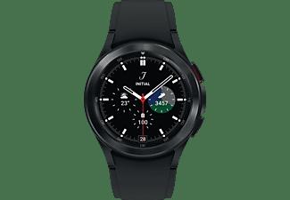SAMSUNG Galaxy Watch4, Classic, LTE, 42 mm Smartwatch Edelstahl Fluorkautschuk, S/M, Black