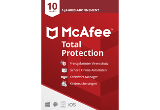 McAfee Total Protection 10 Geräte - 1 Jahr 2021 Code in a Box [PC, iOS, Mac, Android] - [Multiplattform]