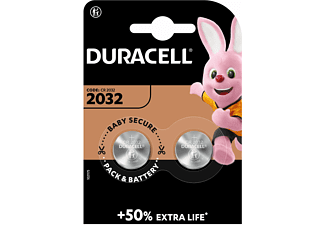 DURACELL Specialty 2032 Lithium Knopfbatterie, 2er Pack (DL2032/CR2032)