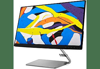 "Monitor - Lenovo Q24I-1L, 23.8"" FHD, 4 ms, 75 Hz, NTSC 72 %, 1000:1, AMD FreeSync™, 2 altavoces, Plata"