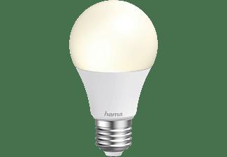 Bombilla inteligente - Hama E27, 10W, RGBW, Sin concentrador, Compatible con Alexa/Google Assistant, Blanco