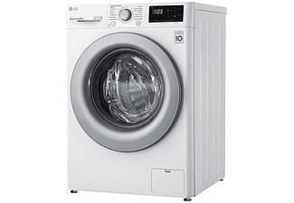 Lavadora carga frontal - LG F4WV3008S4W, 8 kg, 1400 rpm, 14 programas, Vapor Steam, Blanco