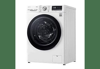 Lavadora carga frontal - LG F4WV7010S2W, 10.5 kg, 1400 rpm, 14 programas, Blanco