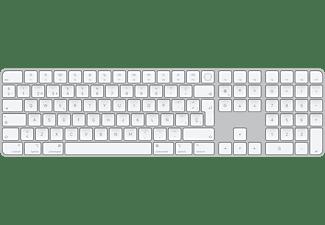 Apple Magic Keyboard con Touch ID y teclado numérico - Teclado numérico Apple MK2C3Y/A, Lightning, Blanco