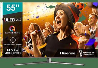 "TV ULED 55"" - Hisense 55U8GQ, 4K UHD Premium, 120 Hz, Dolby Vision IQ, Dolby Atmos, Antirreflectante, Gris"