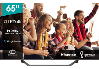 "TV QLED 65"" - Hisense 65A7GQ, HDR UHD 4K , Smart TV, HDMI 2.1, Dolby Atmos, Dolby Vision, HDR10+, Negro"