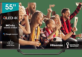 "TV QLED 55"" - Hisense 55A7GQ, UHD 4K, Smart TV, HDR, HDMI 2.1, Dolby Atmos, Dolby Vision, HDR10+, Gris"
