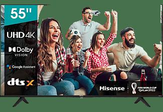 "TV LED 55"" - Hisense 55A6G, UHD 4K, VIDAA U 5.0, HDMI 2.1, Dolby Vision, HDR10+, Control de voz, Negro"