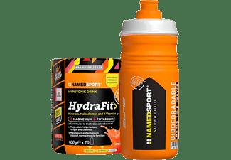 Suplemento alimenticio - NamedSport HydraFit, 400 g, Maltodextrina, Multivitaminas + Bidón Elite 550 ml