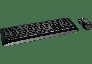 Pack Teclado + Ratón - Microsoft Wireless Desktop 850, RF inalámbrico, USB, Negro