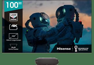 "Proyector - Hisense Láser TV 100L5F-B12, UHD 4K, 100"", DVB-T2, HDR10, HLG, Dolby Atmos, Pantalla e instalación"