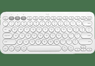 Teclado inalámbrico - Logitech K380, Bluetooth, Easy-Switch™, Ergonómico, Compacto, Multiplataforma, Blanco