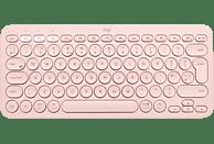 Teclado inalámbrico - Logitech K380, Bluetooth, Easy-Switch™, Ergonómico, Compacto, Multiplataforma, Rosa