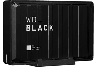 Disco duro externo 8 TB -  WD_Black D10 Game Drive, Sobremesa, Para PC o Consolas, 7200 rpm, 250 MB/s, Negro
