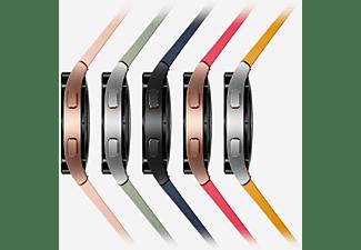 SAMSUNG Galaxy Watch4, LTE, 40 mm Smartwatch Aluminium Fluorkautschuk, S/M, Silver
