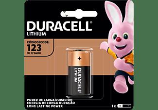 Pilas 123 - Duracell CR123A,  Pilas especiales de litio 123 6V, 1 unidad (CR123 / CR123A / CR17345), Negro