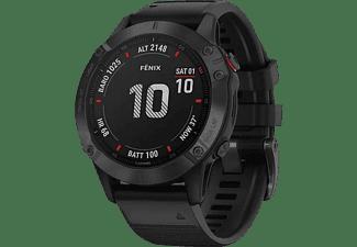 Reloj deportivo - Garmin Fenix 6 Pro, Negro, GPS, Sensores ABC, Aplicaciones deportivas