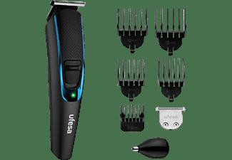 Cortapelos - Ufesa GK6750, Autonomía 120 min, Cuchilla en forma de T, LED, 13 Longitudes, Negro/Azul