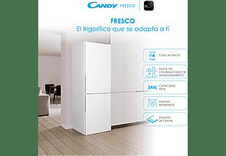 Frigorífico combi - Candy Fresco CCE3T618FW, 344l, No Frost, 185cm, 2 puertas, LED, Blanco