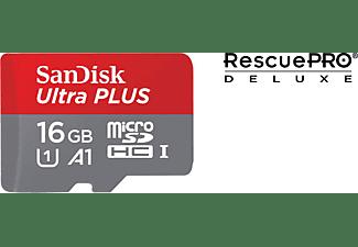 SANDISK Ultra PLUS, Micro-SDHC Speicherkarte, 16 GB, 98 MB/s
