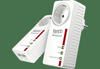 Adaptador PLC – AVMFritz! Powerline 1220E WLAN Set, 2 unidades, 1200mbps, 2 puertos LAN Gigabit, IPv6, Blanco