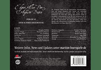 Poe,Edgar Allan/Dupin,Augustine - Folge 15-Der Schrei Der Bestie [CD]