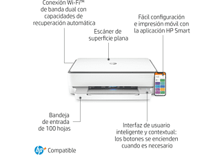 Impresora multifunción - HP Envy 6030e,Color/Mono,10 ppm,Inyección,Wi-Fi, 6 meses de impresión Instant Ink HP+