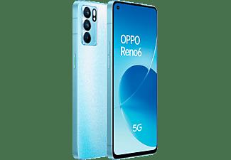 "Móvil - OPPO Reno6 5G, Artic Blue, 128 GB, 8 GB RAM, 6.44"" FHD+, MTK Next 5G-A, 4300 mAh, Android 11"